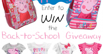 Peppa Pig Back-to-School Giveaway - Eighty MPH Mom