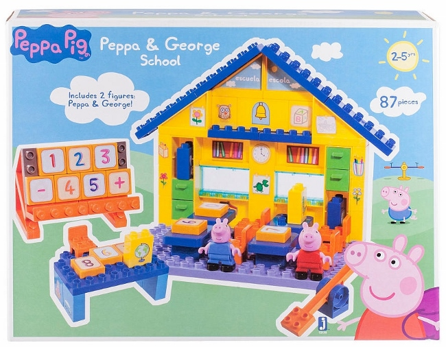 Peppa Pig - Peppa & George School Construction Set