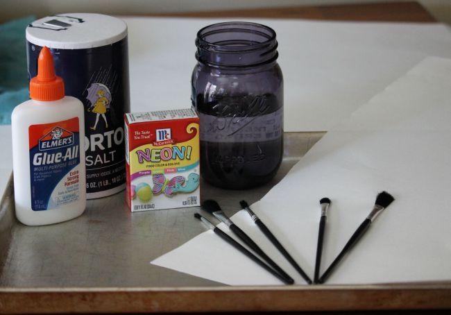 Supplies Needed Glistening Art