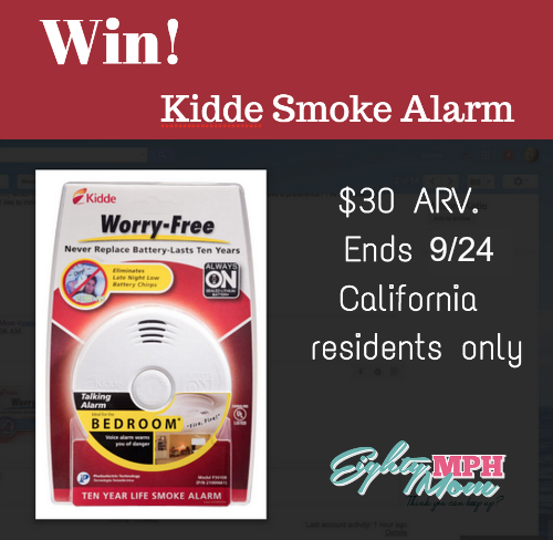 kidde worry free bedroom smoke alarm giveaway