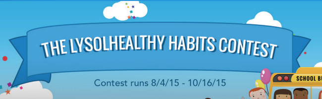 lysol healthy habits contest