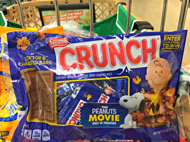 peanuts movie specially marked packages