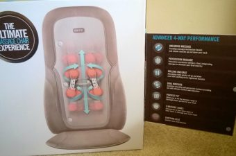 Homedics Quad Shiatsu Massage Cushion with Heat - Review & Giveaway