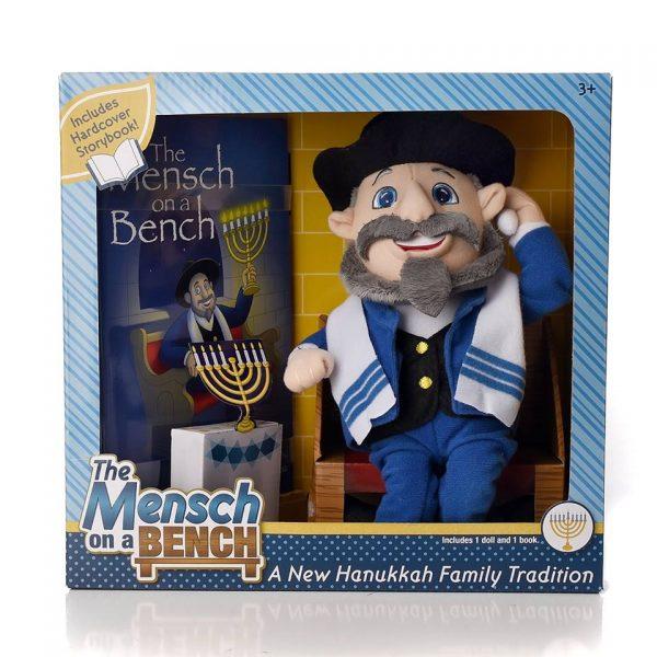 Mensch on a Bench Doll & Book Set
