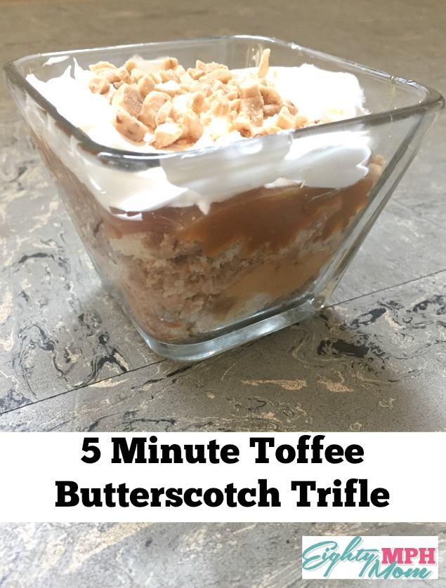 5 Minute Toffee Butterscotch Trifile