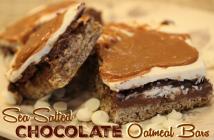 Sea Salted-Chocolate-Oatmeal-Bars