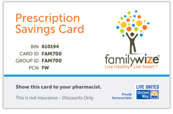 FamilyWize helps you save on prescriptions!