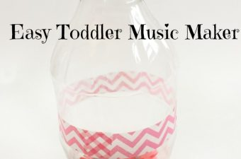 Make an easy toddler music maker with supplies you've already got at home!