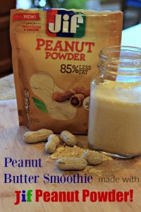 Peanut Butter Smoothie made with peanut powder