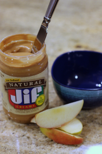 natural Jif peanut butter with apple
