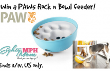 paw 5 rock n bowl feeder giveaway