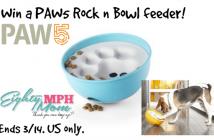 paw 5 rock n bowl feeder giveaway