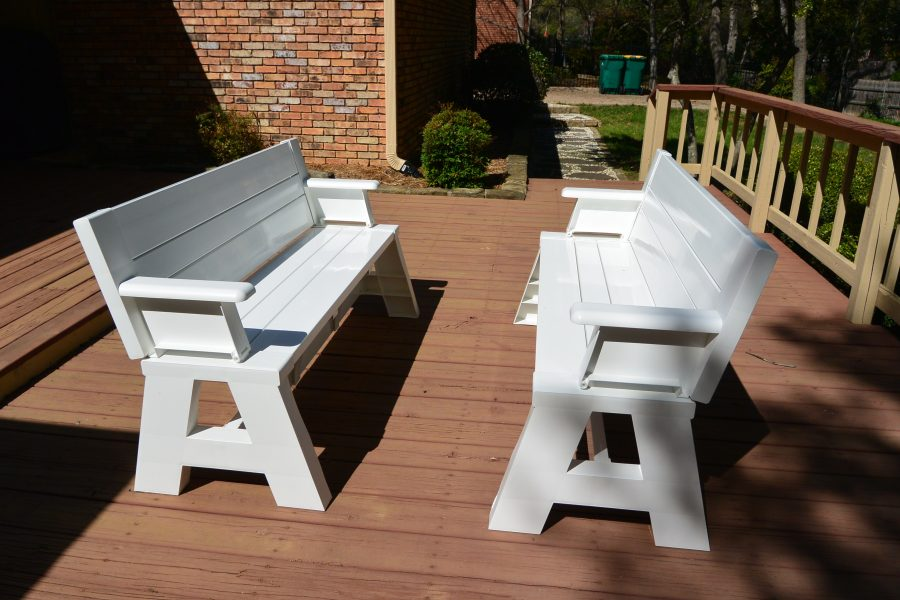 Convert A Bench It S A Picnic Table And A Bench