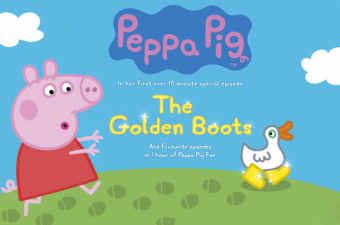 Make a BIG Splash this Spring with Peppa Pig and The Golden Boots