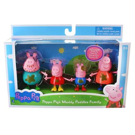 Peppa Pig's Muddy Puddle Family Figures