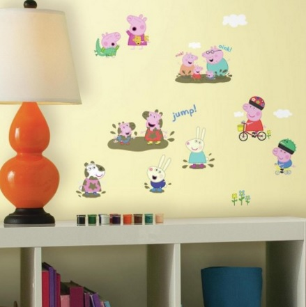 Roommates Decor Peppa Pig Peel and Stick Wall Decals