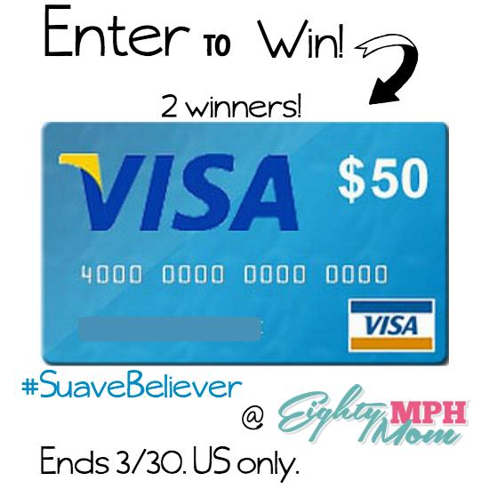 Suave Visa gift card giveaway