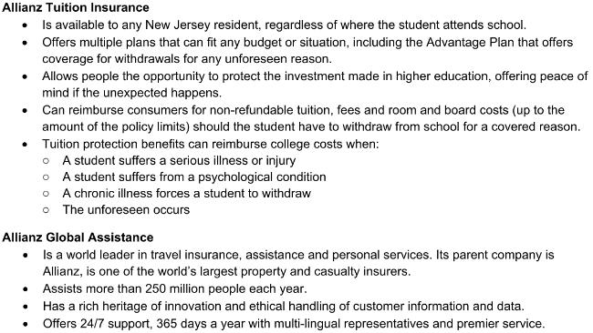 allianz tuition insurance