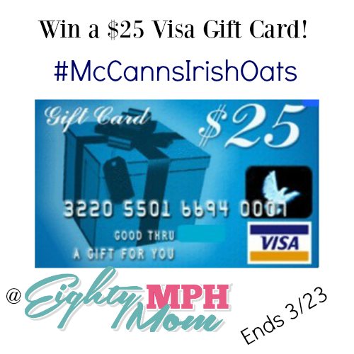 mccanns oats visa gift card giveaway