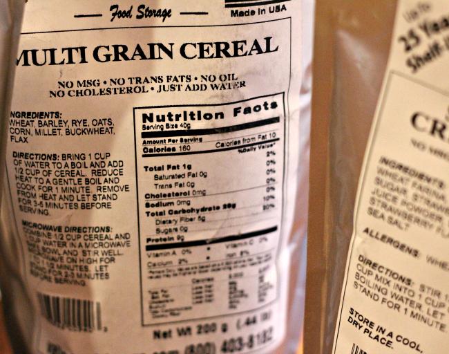 valley food storage multi grain cereal