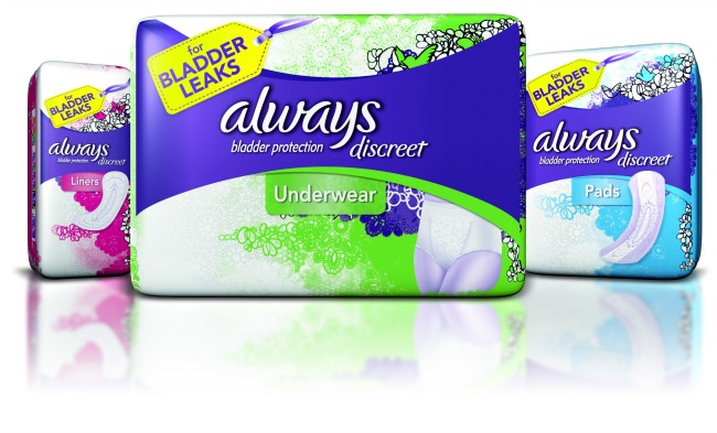 always discreet products for bladder leakage