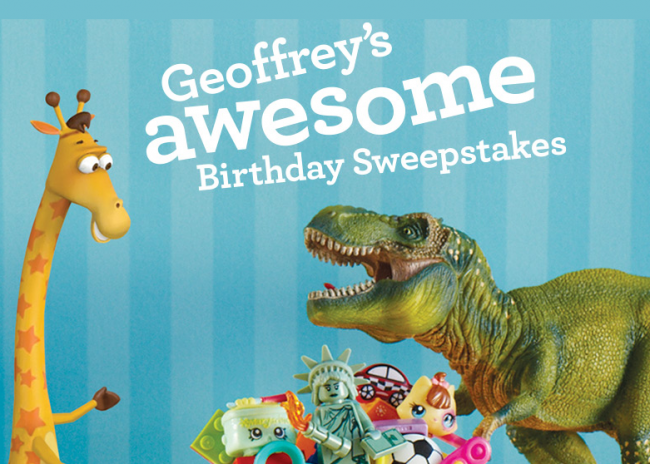 """Toys""""R""""Us Geoffrey's Awesome Birthday Sweepstakes"""