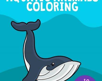 Kidloland Printable Aquatic Animals Coloring Book
