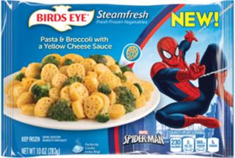 birds eye spiderman pasta