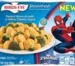 birds eye steamfresh spiderman pasta