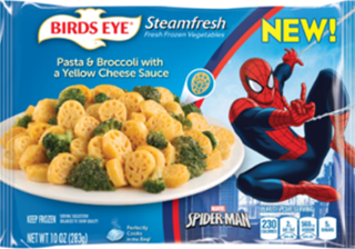 birds eye steamfresh spiderman pasta