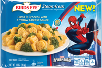 Veggies are just more fun with Bird's Eye Steamfresh character pasta!