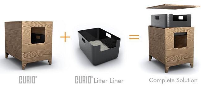 curio cat litter box furniture