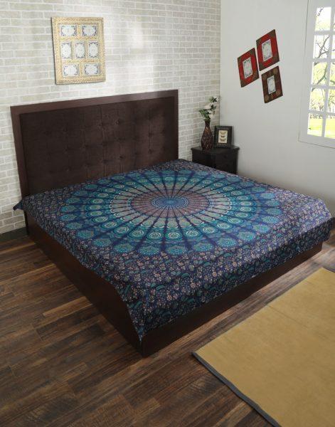 Dark Blue Mandala tapestry