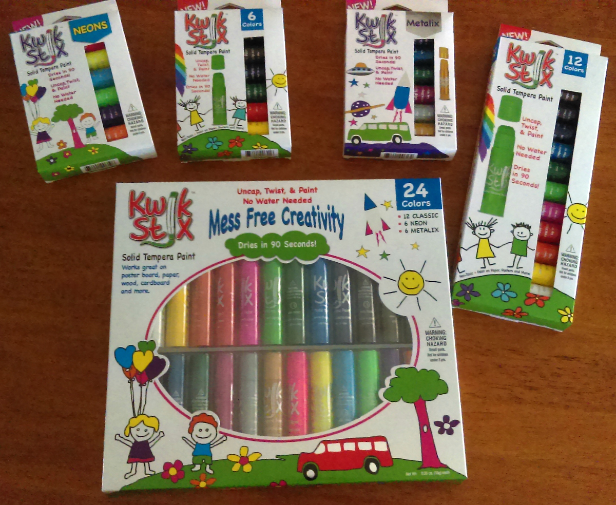 Less Mess While Doing Crafts With Kwik Stix