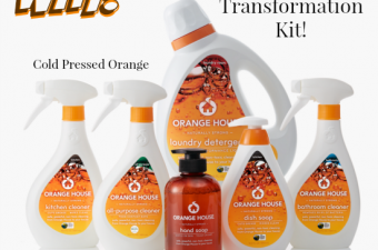 Orange House cold pressed orange cleaning products