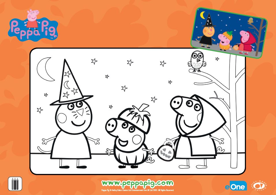 Peppa Pig Pumpkin Party - Coloring Sheet