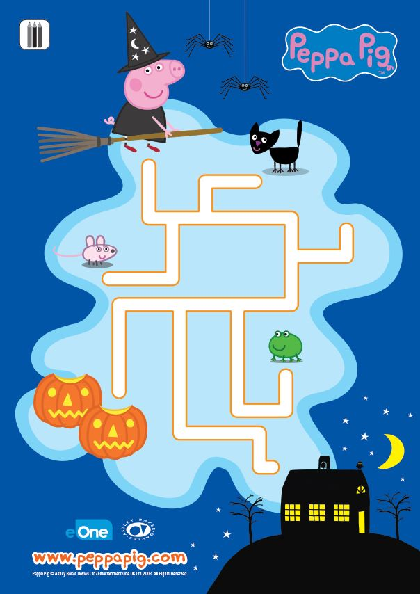 Peppa Pig Pumpkin Party - Maze