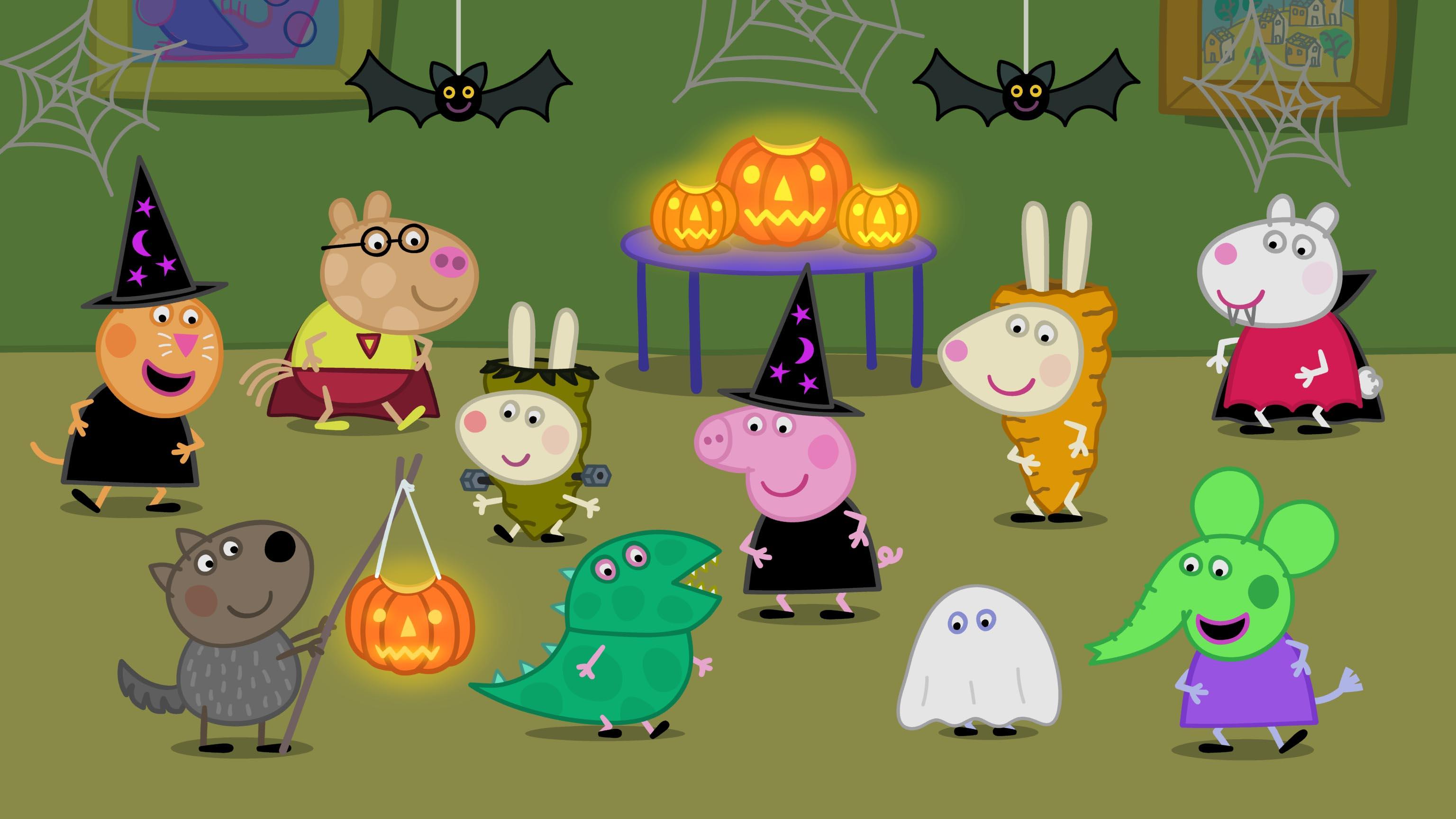 Halloween Pumpkin Party Fun with Peppa Pig - Eighty MPH Mom ...