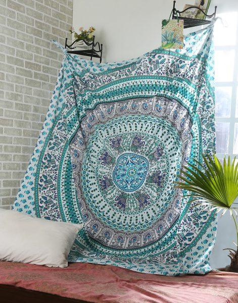 Sea Green Mandala wall Tapestry