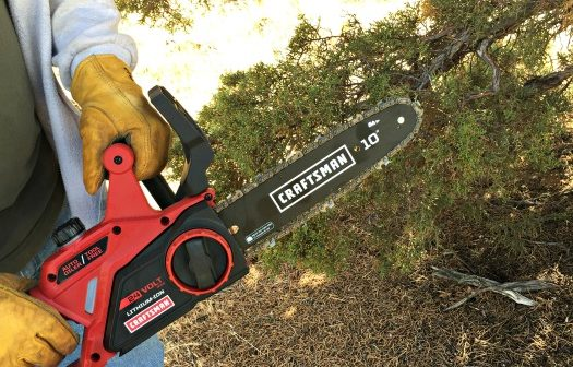 The Craftsman 10″ Cordless Chainsaw – a powerful beast!