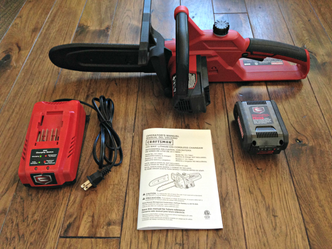 "craftsman 10"" chainsaw what's included"
