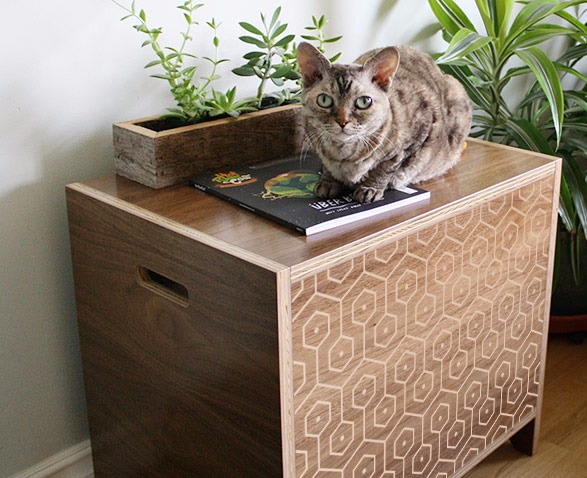 end table cat litter box