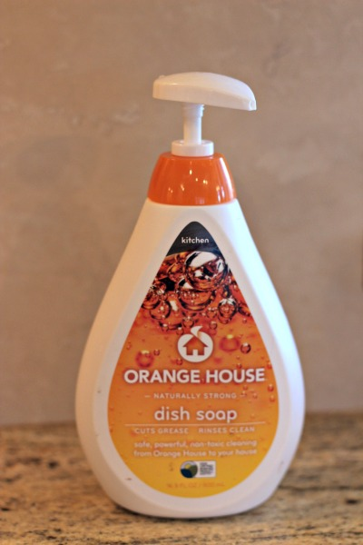 orange house dish soap