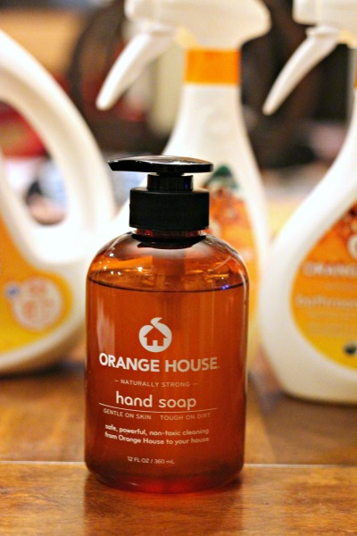 orange house hand soap