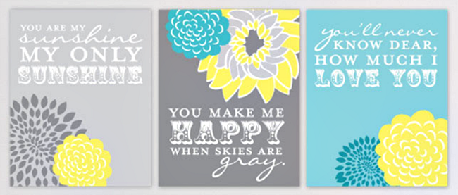 76th & Newbury personalized nursery prints