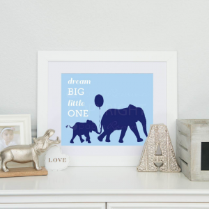 elephant canvas for baby nursery