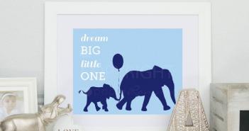elephant canvas for baby nursery