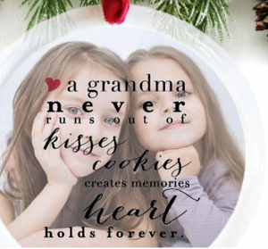 76th & Newbury grandma quote ornament