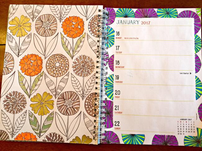 Mindfulness Coloring Engagement Calendar