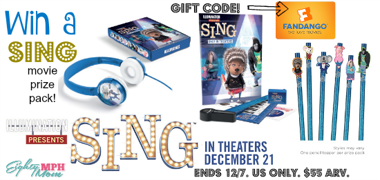 SING movie giveaway